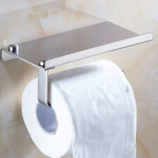 Polished Chrome Stainless Steel Bathroom Toilet Paper Holder Tissue Roll Bar NEW