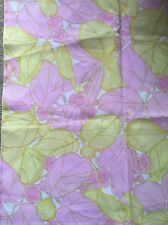 Vintage Nylon Scrap Remnant Of Fabric Material 1.1m x 85cm Pink & Yellow