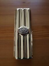 Silver Plated Travel Triple Cigar Case - Silver Plated Golf Club