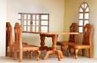 OEM Miniature Hard Plastic Dining Table with 4 Chairs for Sylvanian Families