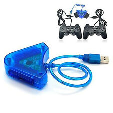 For PS 2 Converter Dual Controller Console Joystick To USB 2.0 Laptop PC Adapter