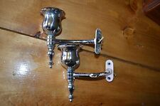art deco CHROME electric fixture candle holder scounce-bathroom medicine cabinet