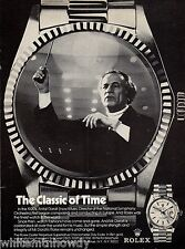 1974 ANTAL DORATI National Symphony Orchestra Conductor Rolex Watch PRINT AD