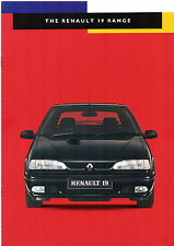 Renault 19 1994-95 UK Market Sales Brochure 16v Executive RT RN RL Cabriolet
