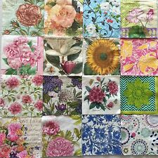 86 Mixed Paper Napkins Decoupage Mixed Assorted Beverage Craft HUGE LOT