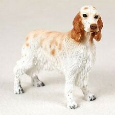 ENGLISH SETTER Dog HAND PAINTED FIGURINE Statue COLLECTIBLE puppy ORANGE BELTON