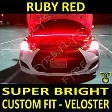 Custom fit Ruby Red LED strip light under hood cowl for Hyundai Veloster