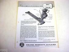 Bolens Lawn & Garden Sickle Bar Owner Manual & Parts List Manual