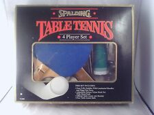 Vintage Spalding T-1000 Table Tennis Ping Pong 4 player set.