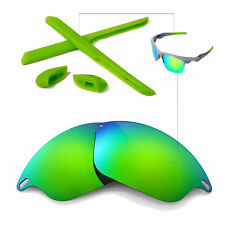New WL Polarized Emerald Lenses And Rubber Kit For Oakley Fast Jacket