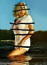 "Linda Vaughn ""Miss Hurst Golden Shifter"" ""TIGHT"" WET ""T"" Shirt Beach PHOTO!"
