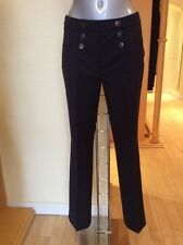 Gerry Weber 'Pamela' Trousers Size 14 BNWT Navy, Button Detail RRP £85 NOW £38