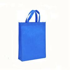 1PC Sapphire blue shopping Non-woven Shopping Bag Reusable Tote Folding Storage