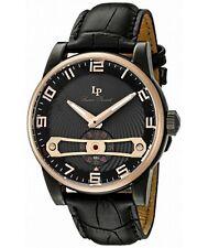 """Lucien Piccard """"Bosforo'S quarzo orologio in pelle nera (Modello: lp-40046-bb-01-rb)"""