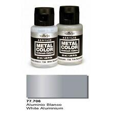 Vallejo Paints Metal Color VLJ-77706 White Aluminum Metal Color 32ml Bottle