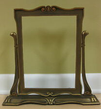 "Vintage Art Deco WOODEN SWINGING PICTURE FRAME ornate shabby chic-14"" tall"
