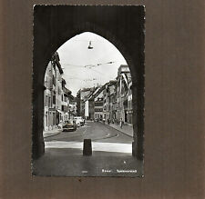 Switzerland Basel Spalenvorstadt Cars etc Real photo 1950's  posted 1957 a112
