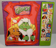 """2000 How The Grinch Stole Christmas 12"""" Talking Sound Book Play-A-Sound Dr Seuss"""