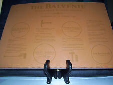 The BALVENIE Single Malt Scotch Whisky Leather Place Mat 14x10 Gorgeous! NEW