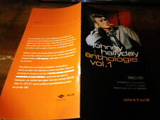 JOHNNY HALLYDAY - Plan média / Press kit !!! ANTHOLOGIE VOL 1 !!!