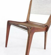 Vintage Mid Century Modern Jacques Gillon Cord Rope Chair