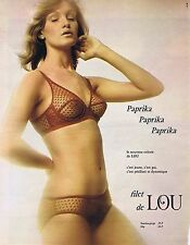 Publicité Advertising 016 1972 Lou soutien-gorge 'Paprika' 1