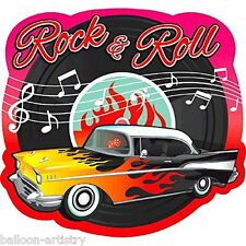 1950's Rock & Roll Cut Out Retro Party Car  Diner Wall Decoration Prop 50s