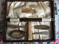 Vintage Silver Plated Jam Spoon & Butter Knife Boxed