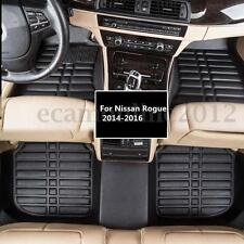 Car Floor PU Leather Front&Rear Liner Waterproof Mat For Nissan Rogue 2014-2016