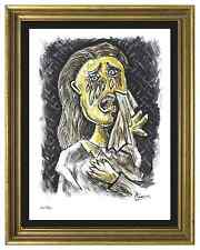 "Pablo Picasso Signed & Hand-Numbered Ltd Edition ""Weeping Woman"" Litho Print"