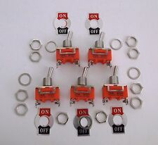 5 BBT Brand On/Off 15 amp Heavy Duty Toggle Switches for RVs