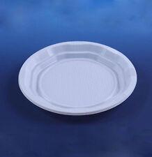 """50 Blanco Desechable 9"""" Platos De Plástico Fiesta Ware Peso ligero de alta calidad"""