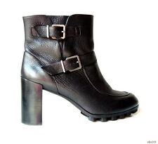 new $1150 ROBERT CLERGERIE 'Apin' black leather ANKLE BOOTS shoes 41 11