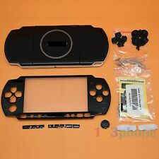BRAND NEW FULL HOUSING OUTER LENS + BUTTON SET+SCREW SET FOR SONY PSP 3000 BLACK