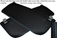 BLUE STITCH FITS FORD TRANSIT MK7 2006-2013 2X SUN VISORS LEATHER SKIN COVERS