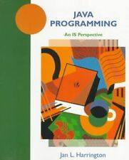 NEW Java Programming: An Is Perspective by Jan L. Harrington Paperback Book (Eng