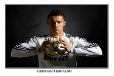 CRISTIANO RONALDO SIGNED AUTOGRAPH PHOTO PRINT POSTER* Real Madrid soccer star!