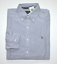 NWT Men's Ralph Lauren Casual Long-Sleeve Oxford Shirt, Slate Blue, M, Medium