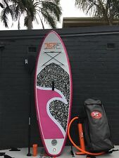 Jetocean Inflatable 8' Kids SUP Stand Up Paddle Board with Paddle and Pump Pink