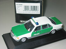 Mercedes Benz  S CLASS  W126  POLICE  1/43 Minichamps SUPER RARE