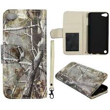 For Apple iPod Touch 5 5th Leather Conifer Camouflag Flip Wallet Case Cover Glob