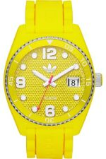 NEW-ADIDAS BRISBANE YELLOW+GOLD TONE,YELLOW SILICONE BAND, WATCH ADH6177