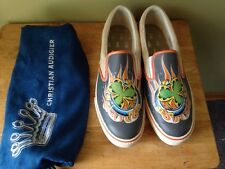 Christian Audigier Shoes Unique  Lucky Grey Sneakers Size 11 New In Box