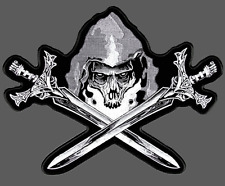 REAPER SWORDS EMBROIDERED 12 INCH OUT LAW NOMAD BIKER PATCH