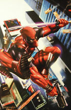 GREG HORN rare DEADPOOL print SIGNED color 11 x 17 glossy stock MARVEL LAST ONE!