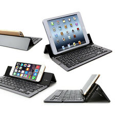 Alu Faltbare Bluetooth Tastatur APPLE iPad Air 2 LTE Tablet IOS - F18 Grau