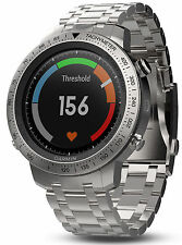 Garmin Fenix Chronos GPS Athlete Watch Brushed Stainless Steel Band 010-01957-02