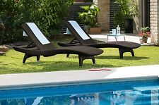 Outdoor Chaise Lounge Chair Adjustable Wicker Pool Lounger Patio Furniture Set