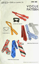 Vintage 40's VOGUE PATTERN - MENS TIES* DICKIE BOW*CRAVAT*NECKWEAR