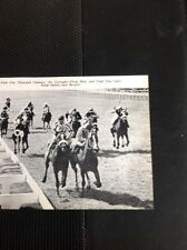L1-3 Ephemera 1968 Small Picture  Horse Racing The Curragh Front Row Glad One